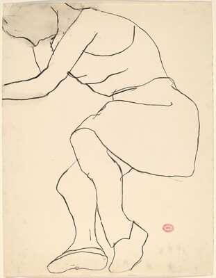 Untitled [model in sleeveless dress and shoes]