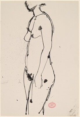 Untitled [standing female nude turned left]