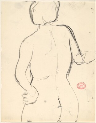 Untitled [back of female nude: head to buttocks]