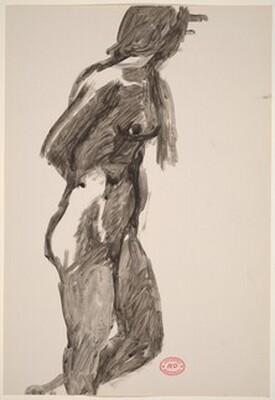 Untitled [female nude turning away]