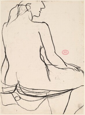 Untitled [back view of seated female nude]