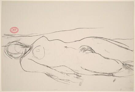 Untitled [female nude lying flat on back]