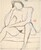 Untitled [seated nude resting her head upon her right hand] [recto]