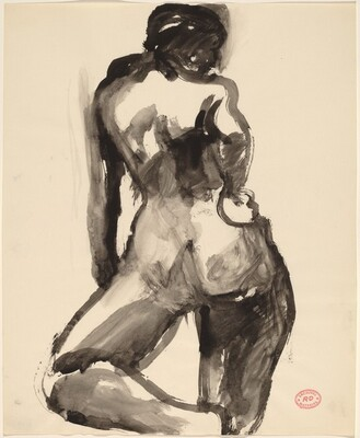 Untitled [female nude, back view]