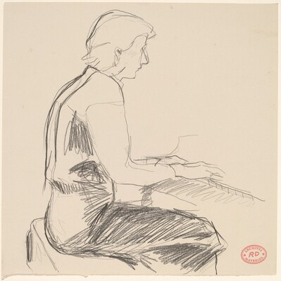 Untitled [figure playing piano]