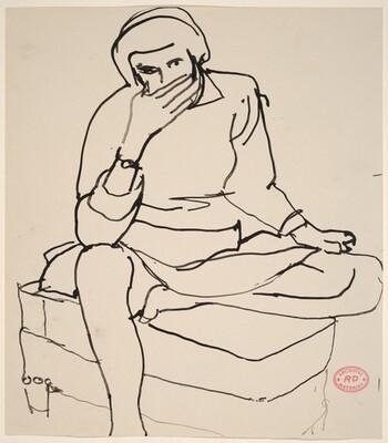 Untitled [seated figure]