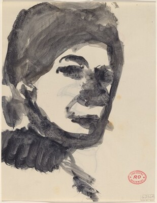 Untitled [head of a woman] [recto]