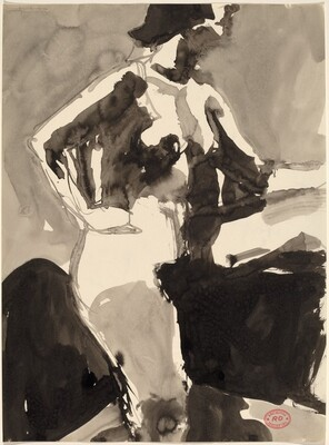 Untitled [side view of nude with her hand on her hip]