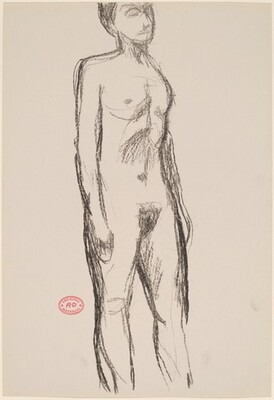 Untitled [standing nude with her arms to her sides]