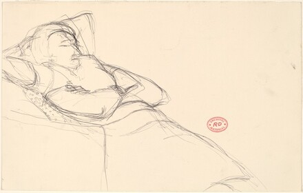 Untitled [woman reclining in a seat]