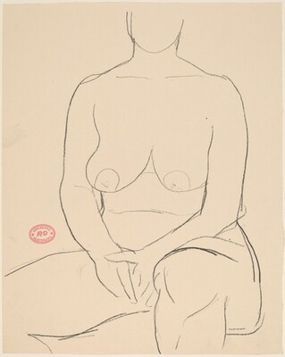 Untitled [seated nude with her hands clasped in her lap]