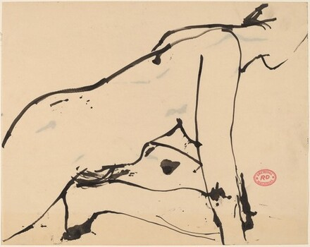 Untitled [female nude crouching]