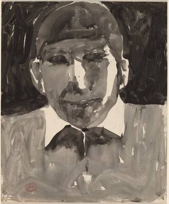 Untitled [man with a white collar] [recto]