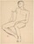Untitled [seated nude with his right arm over the chair back] [recto]
