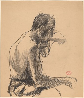 Untitled [figure resting chin on wrist]
