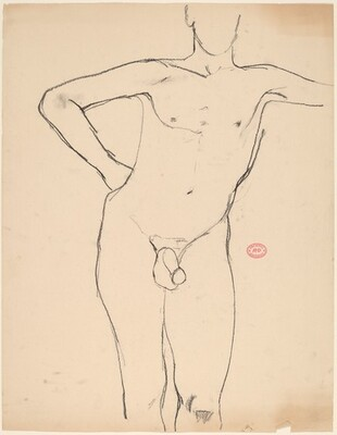 Untitled [standing nude with his right arm akimbo]