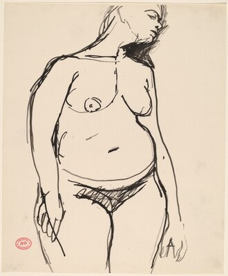 Untitled [standing female figure looking right]