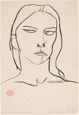 Untitled [female head]
