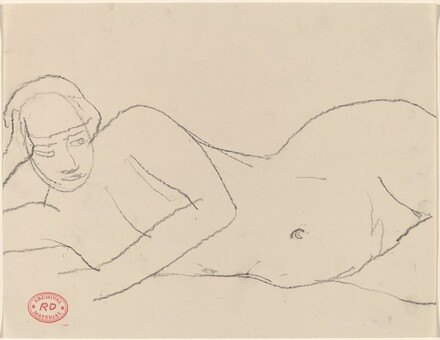 Untitled [nude reclining on her right side]