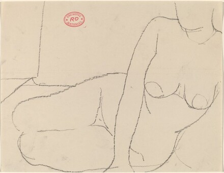 Untitled [nude reclining on her left thigh]