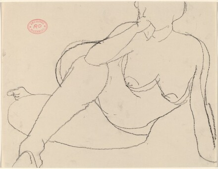 Untitled [nude resting on her left side]