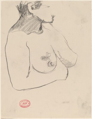 Untitled [nude with tattooed breast]
