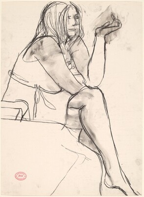 Untitled [seated woman with crossed legs]