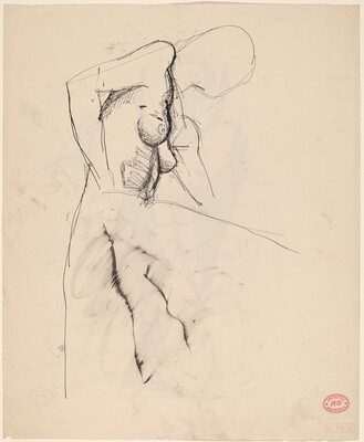 Untitled [study of a female torso] [recto]