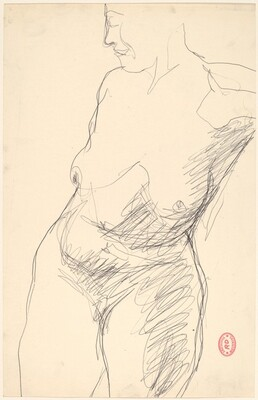 Untitled [torso of a female nude]