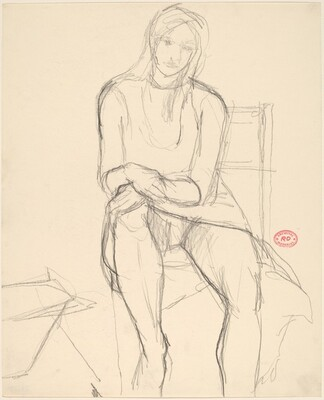 Untitled [seated woman in a dress]