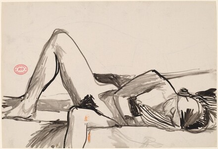 Untitled [nude reclining on her side] [recto]