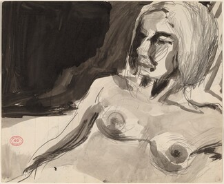 Untitled [female nude looking left] [recto]
