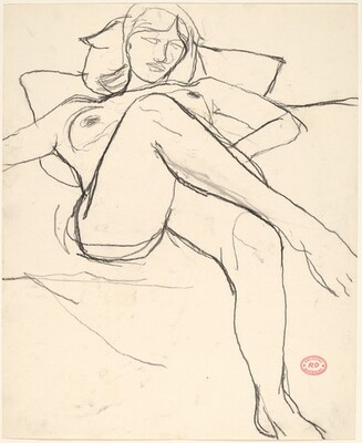 Untitled [reclining nude with her legs crossed]
