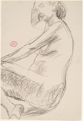 Untitled [side view of female nude]
