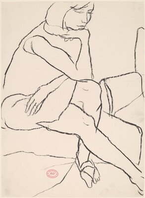 Untitled [seated woman in sandals]