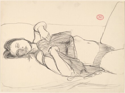 Untitled [reclining woman in undergarments]