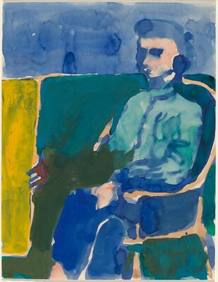 Untitled [figure in an armchair]