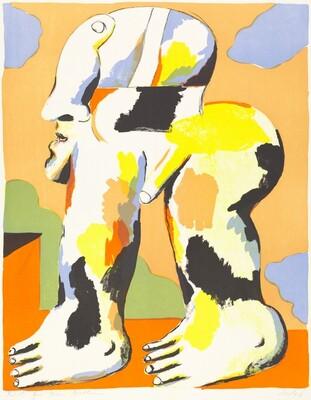 Untitled (Striding Man) épreuve d'artiste for Herr Mathieu
