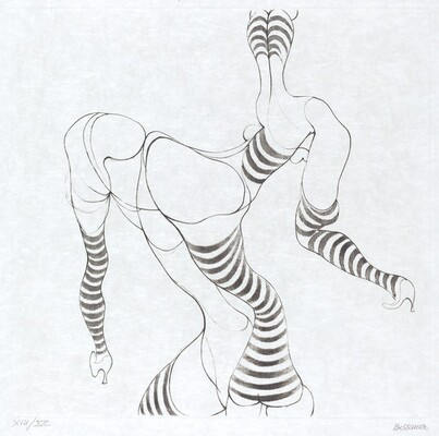 Woman with Striped Limbs