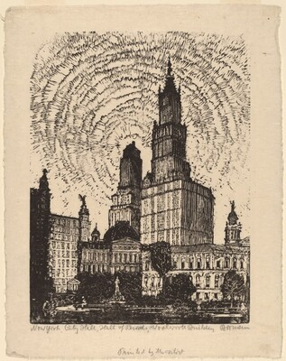 New York City, Hall of Records, Woolworth Building