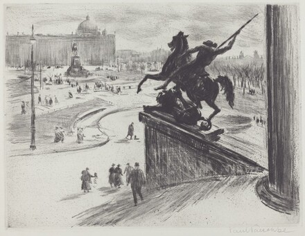 Square with an Equestrian Statue