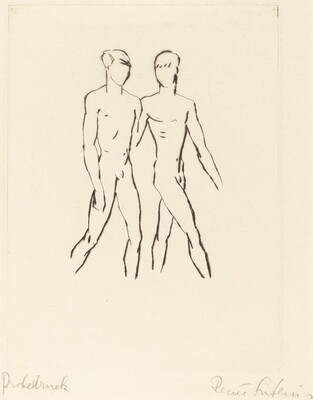 Two Nude Youths