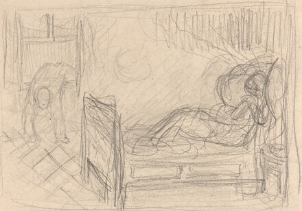 Figure on a Bed in a Room