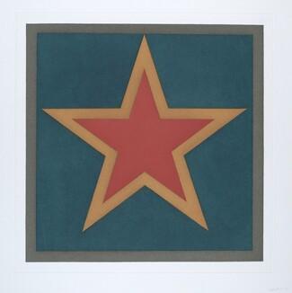 Stars-Red Center: 5 Point