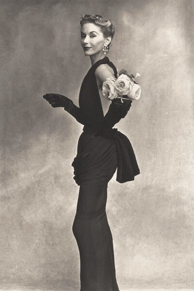 Woman with Roses (Lisa Fonssagrives-Penn in Lafaurie Dress), Paris