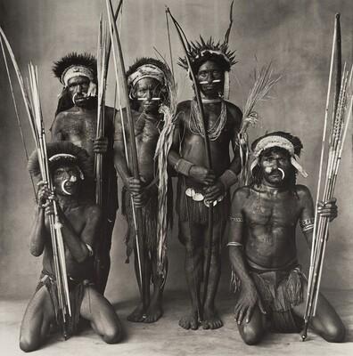 Five Okapa Warriors, New Guinea