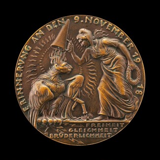 The Birth of the Weimar Republic and the Abdication of Kaiser Wilhelm II on 9 November 1918 [obverse]