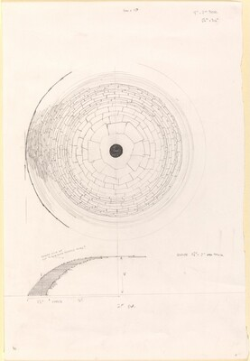 1 cm= 1 ft., 1 1.2 -2 Thick, 28' Diameter, 56 x 30