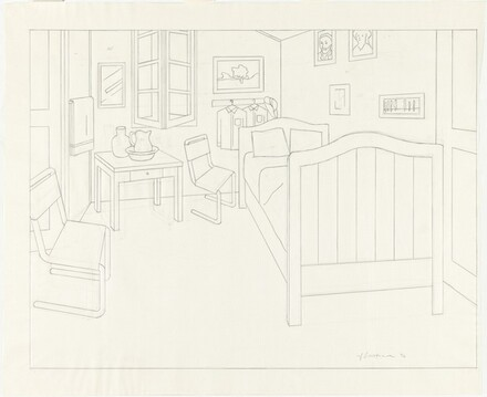 Study for Bedroom at Arles