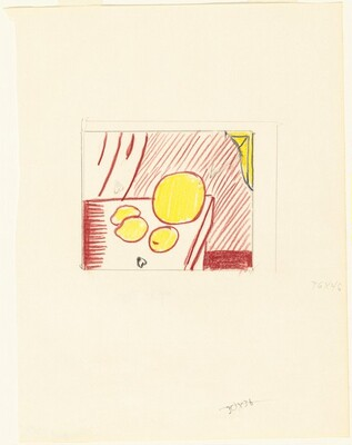 Study for Fragmented Painting of Lemons and a Melon on a Table